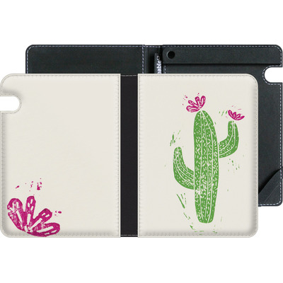Amazon Kindle Voyage eBook Reader Huelle - Linocut Cacti von Bianca Green