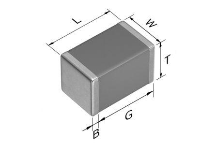 TDK 0805 (2012M) 3.3nF Multilayer Ceramic Capacitor MLCC 450V dc ±5% SMD C2012C0G2W332J125AA (2000)
