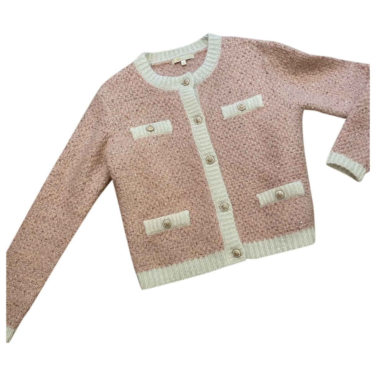Maje \N Pullover in  Rosa Wolle