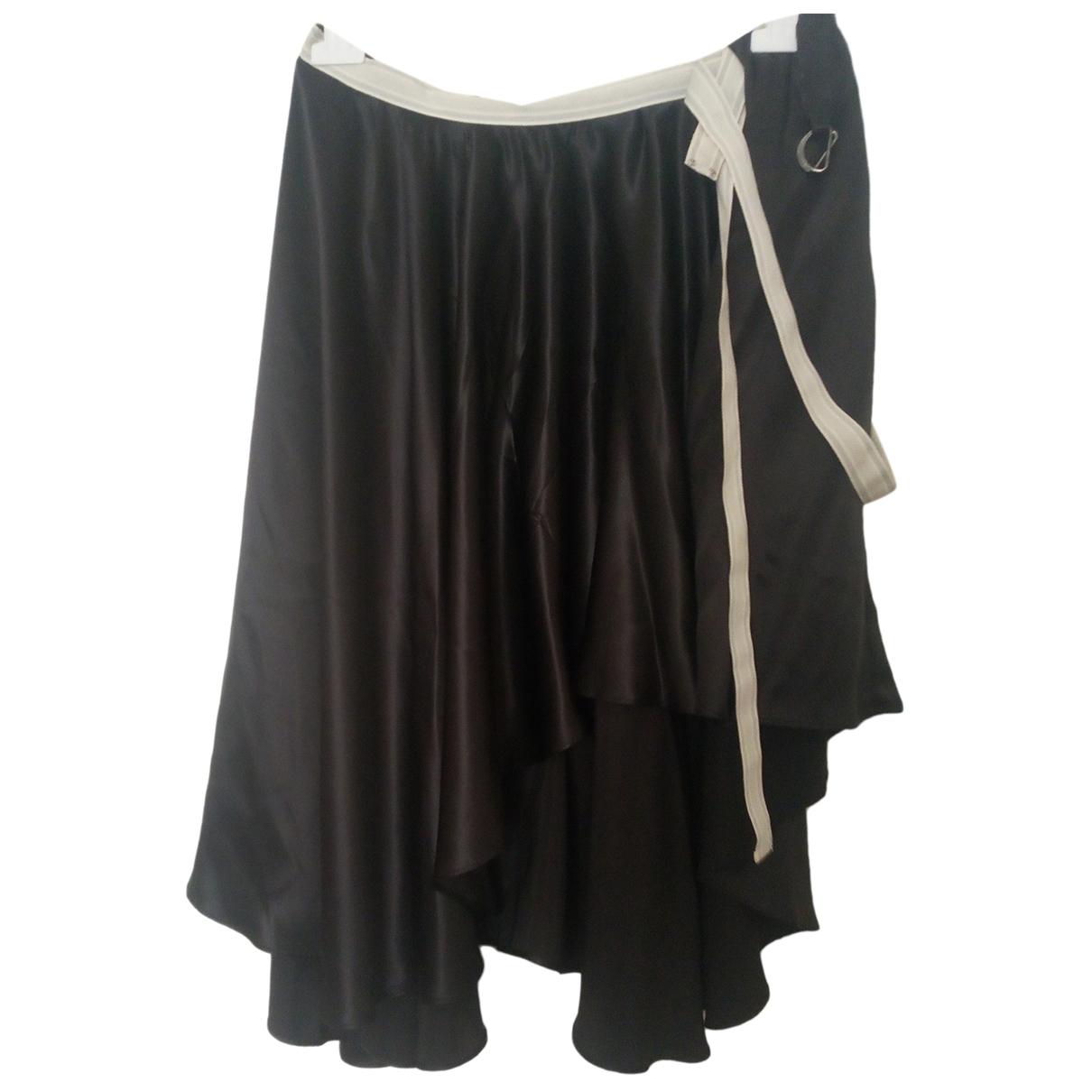 Mcq \N Black Silk skirt for Women L International