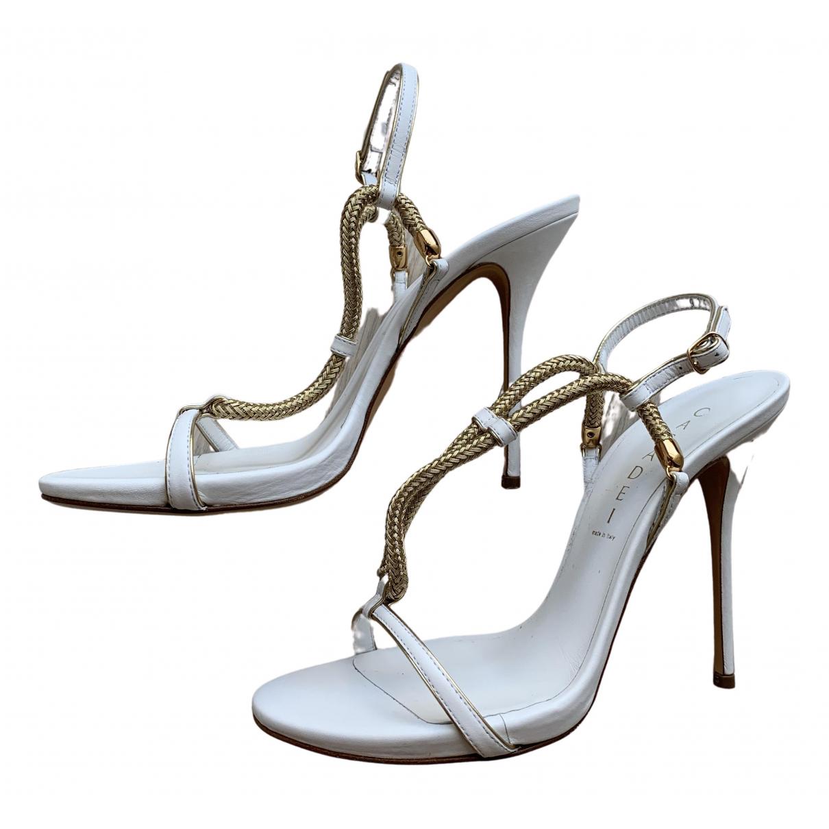 Casadei - Sandales   pour femme en cuir - blanc