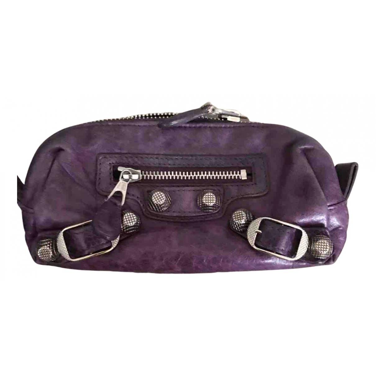 Balenciaga - Petite maroquinerie   pour femme en cuir - violet