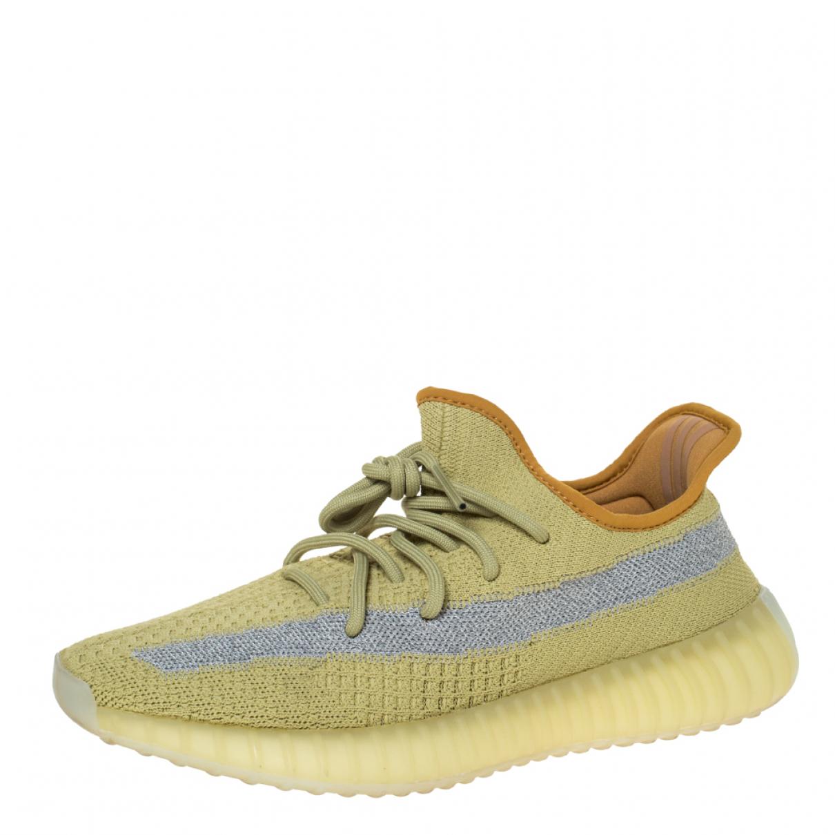 Yeezy X Adidas - Espadrilles   pour homme en cuir - jaune