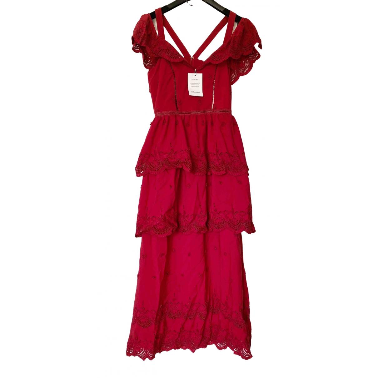 Self Portrait \N Kleid in  Rot Baumwolle