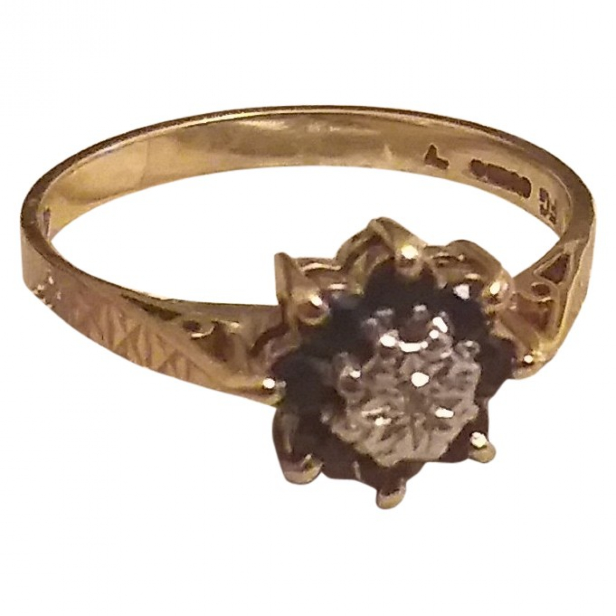 Non Signé / Unsigned Saphir Yellow Yellow gold ring for Women N ½ UK