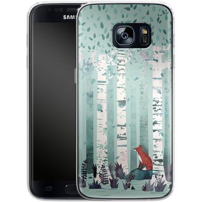 Samsung Galaxy S7 Silikon Handyhuelle - Birches von Little Clyde