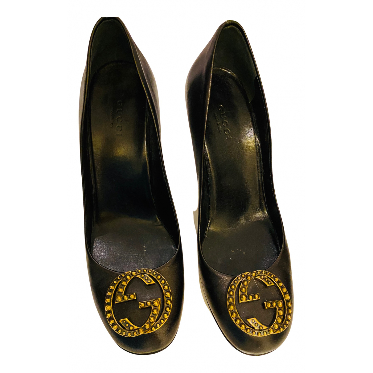 Gucci \N Pumps in  Schwarz Leder
