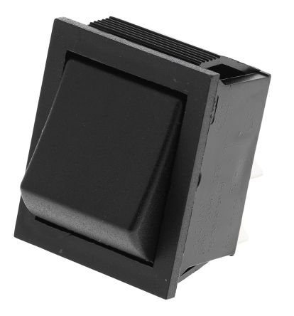 Arcolectric Double Pole Single Throw (DPST), (On)-Off Rocker Switch Panel Mount