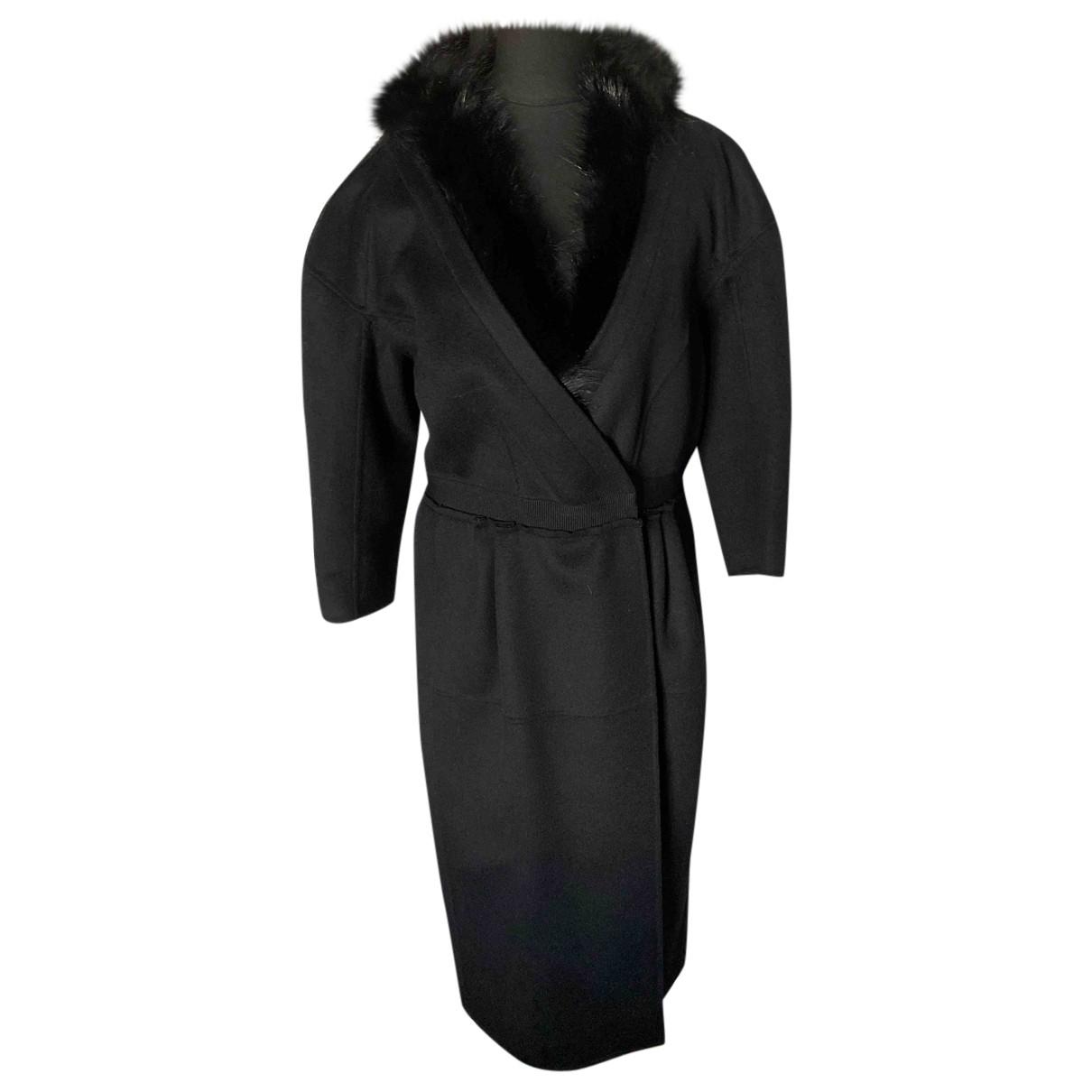 Nina Ricci - Manteau   pour femme en cachemire - noir