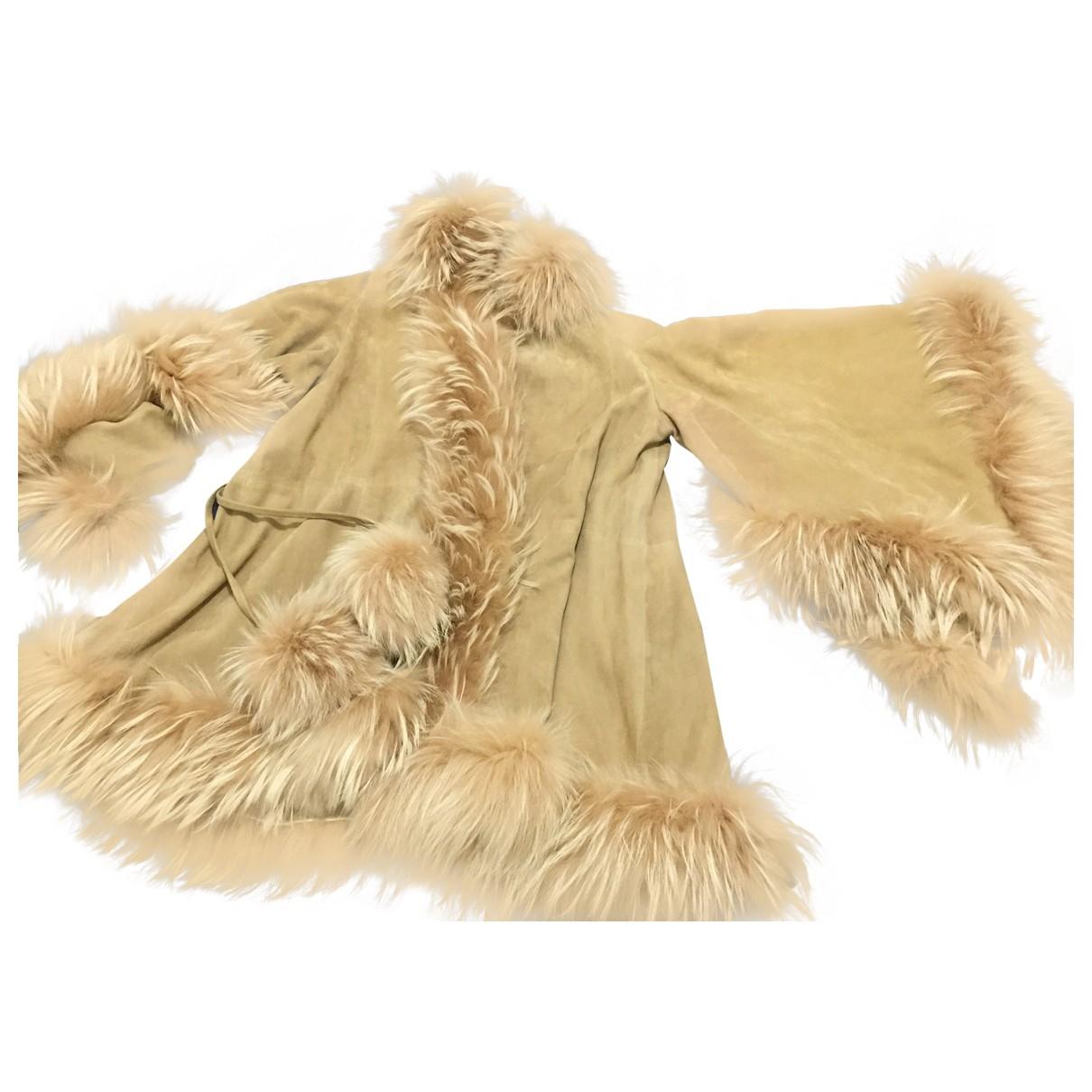 Dior - Manteau   pour femme en cuir - beige