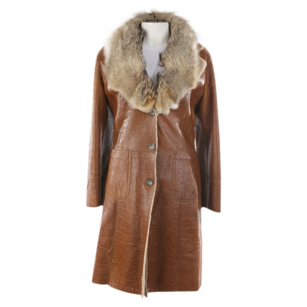 Non Signé / Unsigned \N Brown Fur jacket for Women 36 FR