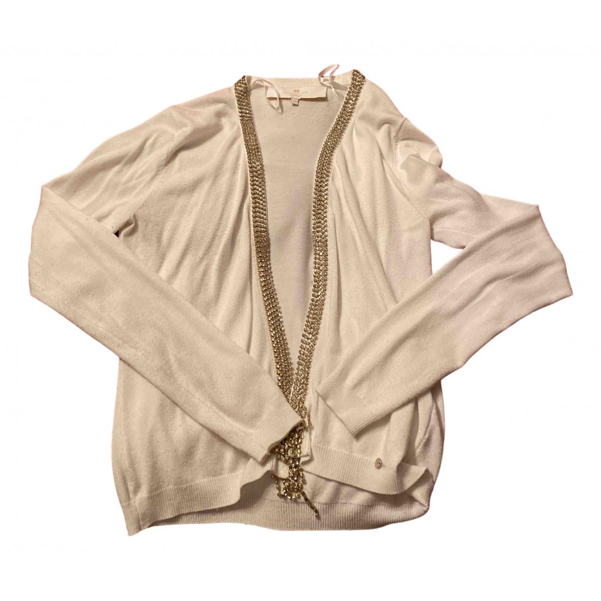 Elisabetta Franchi N White Cotton Knitwear for Women 42 IT