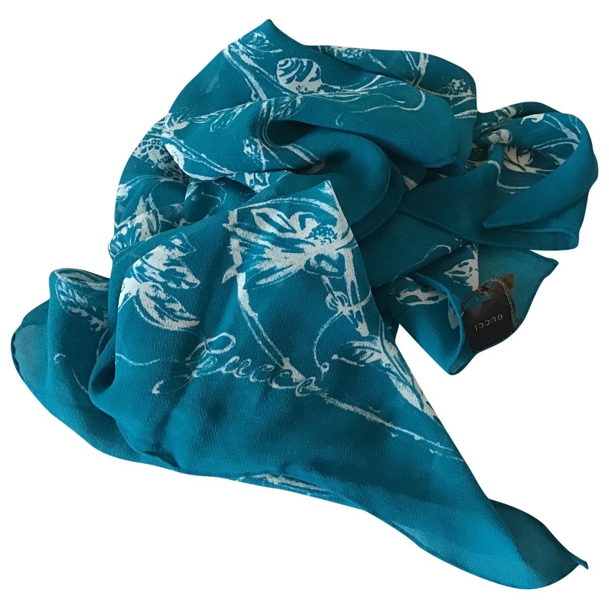 Gucci - Foulard   pour femme en soie - bleu