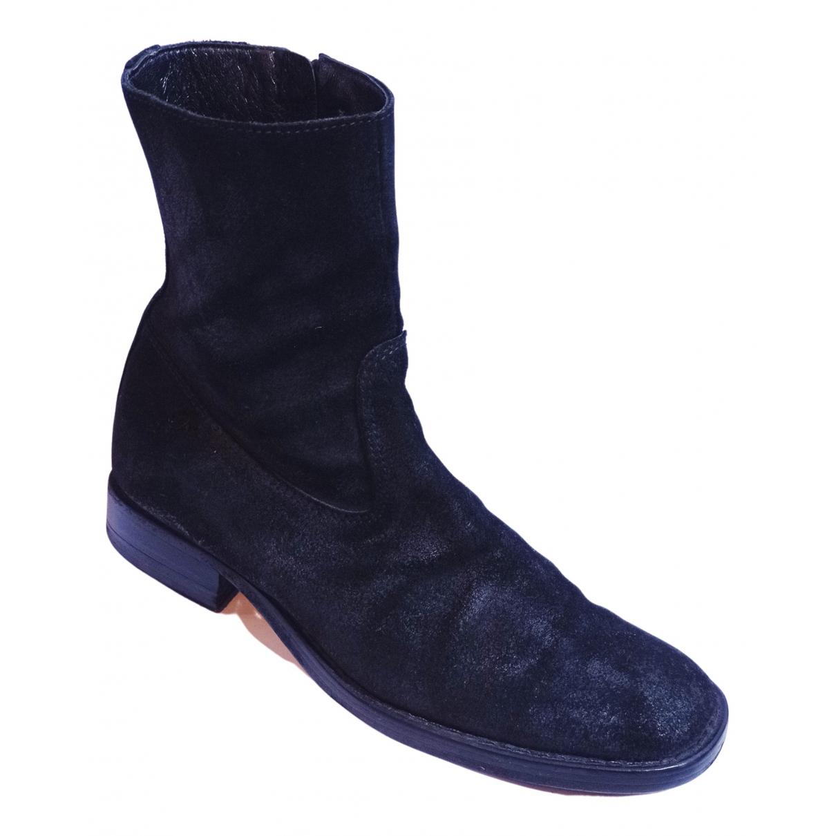 Ann Demeulemeester - Boots   pour femme en suede - noir