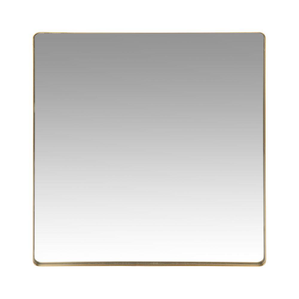 Spiegel mit goldfarbenem Metallrahmen 70x70