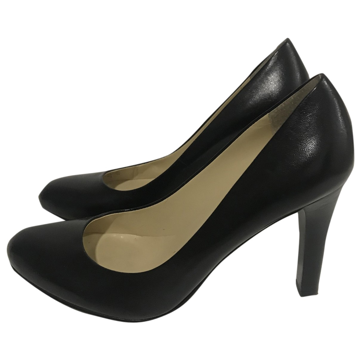 Lauren Ralph Lauren \N Black Leather Heels for Women 7.5 UK