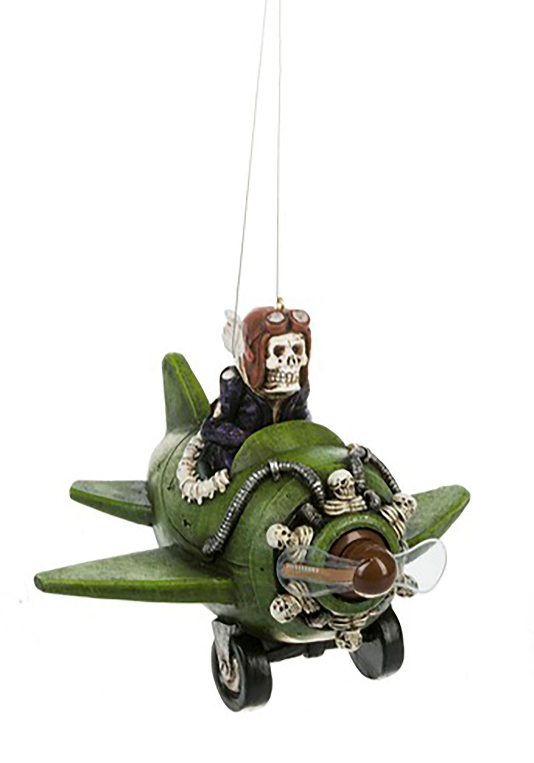Happy Halloween Light Up Skeleton Flyer Ornament