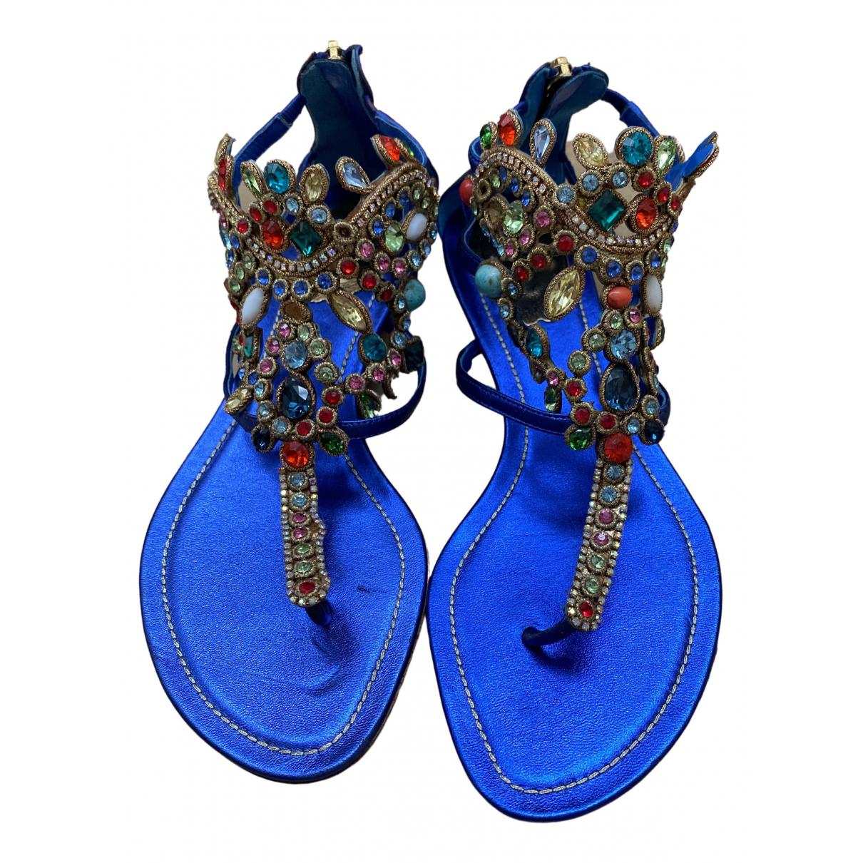 Rene Caovilla - Sandales   pour femme en cuir - bleu