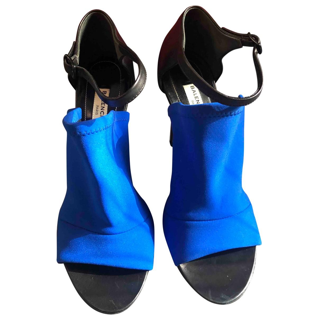 Balenciaga \N Blue Sandals for Women 38 EU