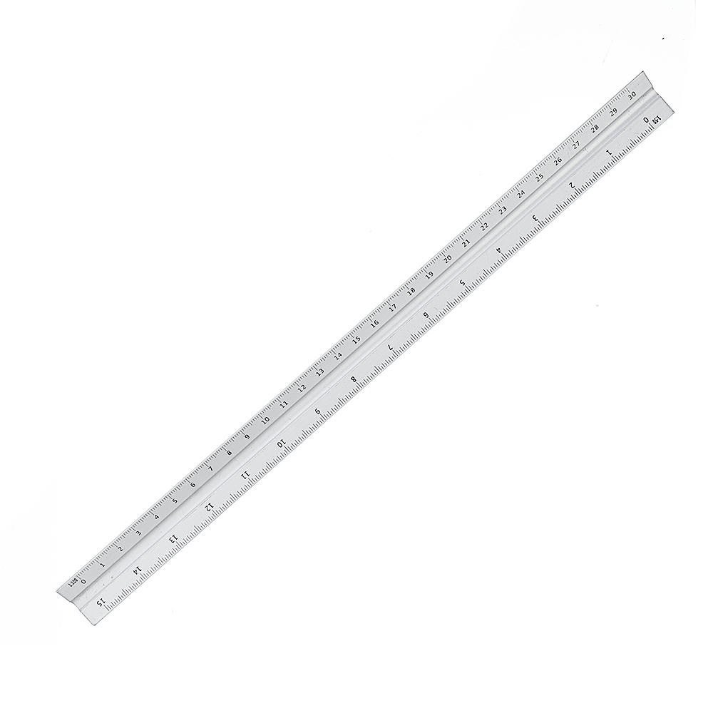 300mm Aluminium Triangle Scale Angle Ruler Architect Engineer Technical Ruler Measuring Gauging Tool