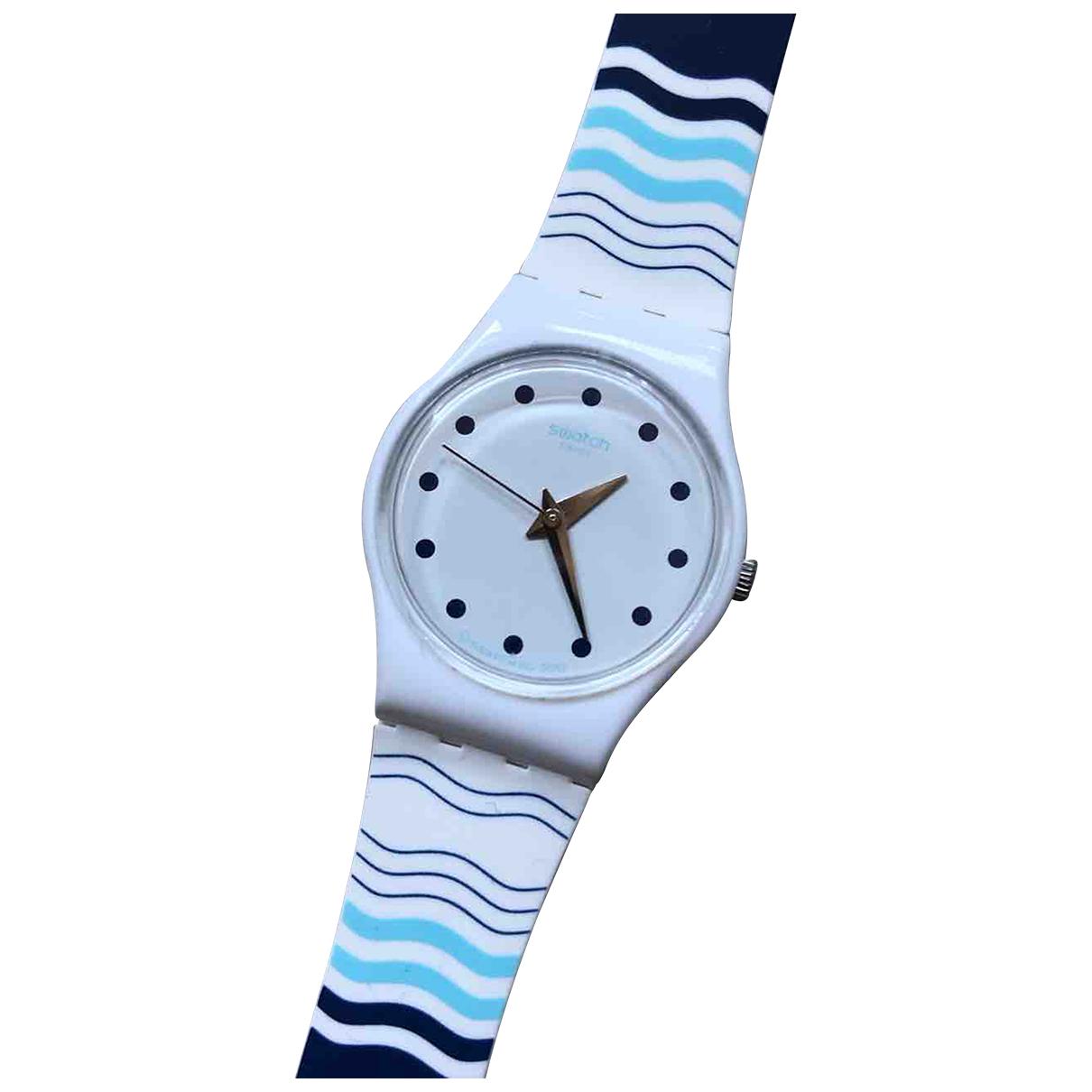 Swatch - Montre   pour femme en acier - bleu