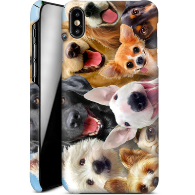 Apple iPhone XS Max Smartphone Huelle - Dogs Selfie von Howard Robinson