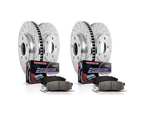Power Stop K5560 Drilled & Slotted Brake Kit Front & Rear K5560