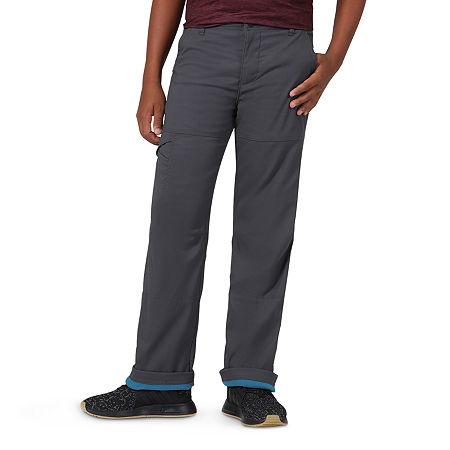 Wrangler All Terrain Gear Big Boys Stretch Straight Leg Jean, 14 , Gray