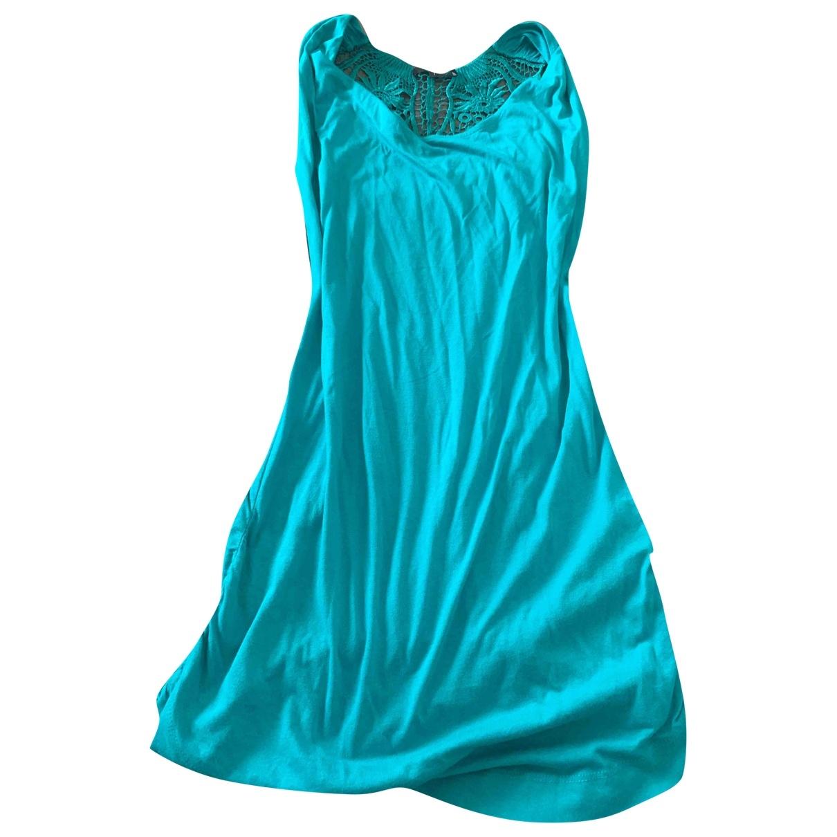 Patrizia Pepe - Robe   pour femme en coton - bleu