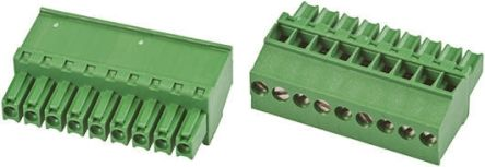 TE Connectivity Non-Fused Terminal Block, 9 Way/Pole, Screw Down Terminals, 30 → 14 AWG Cable Mount, Nylon, 300 V