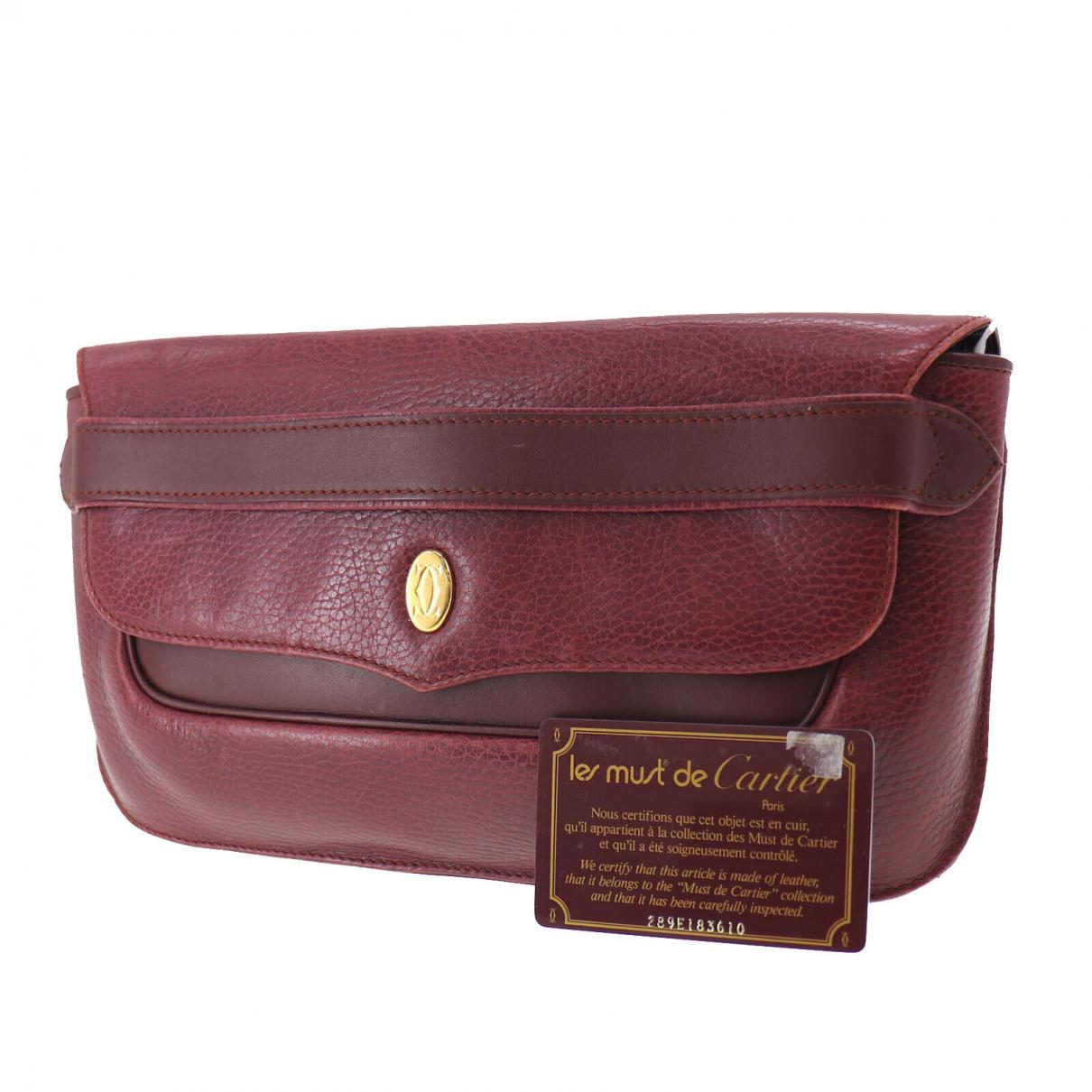 Cartier - Pochette   pour femme en cuir