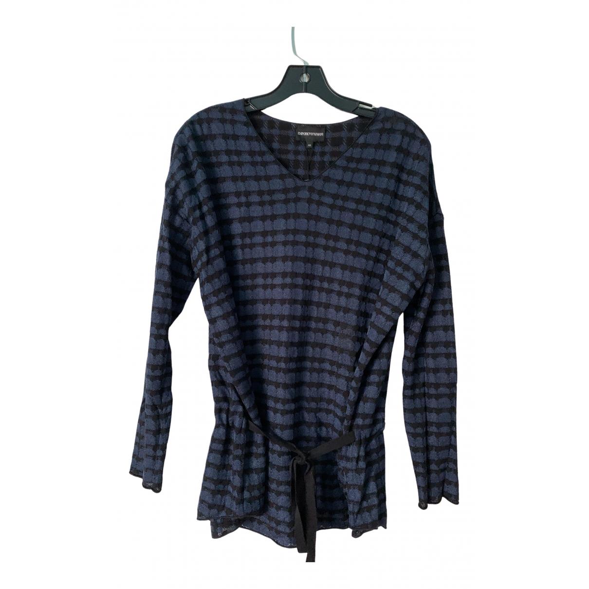 Emporio Armani N Navy Knitwear for Women 40 IT