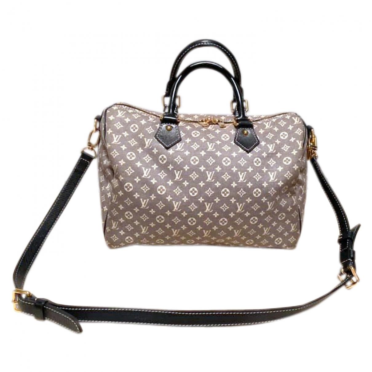Louis Vuitton Speedy Bandouliere Handtasche in  Marine Baumwolle