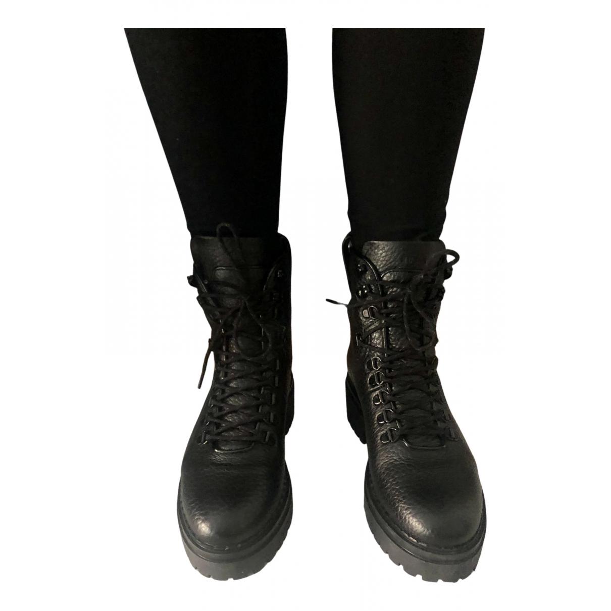 Nubikk \N Stiefeletten in  Schwarz Leder