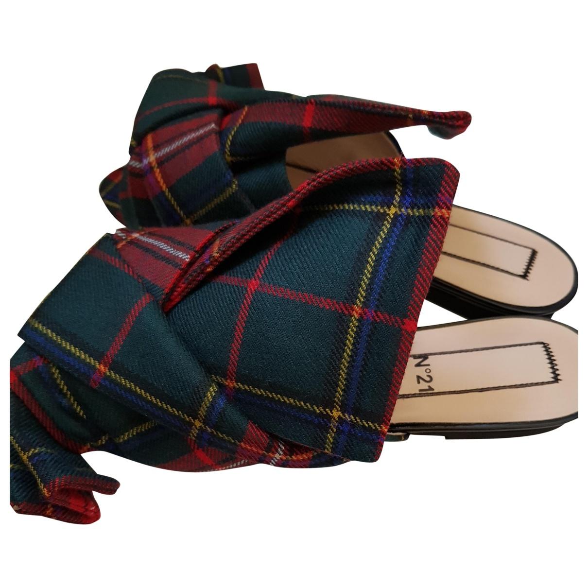 N°21 \N Red Cloth Sandals for Women 37.5 EU