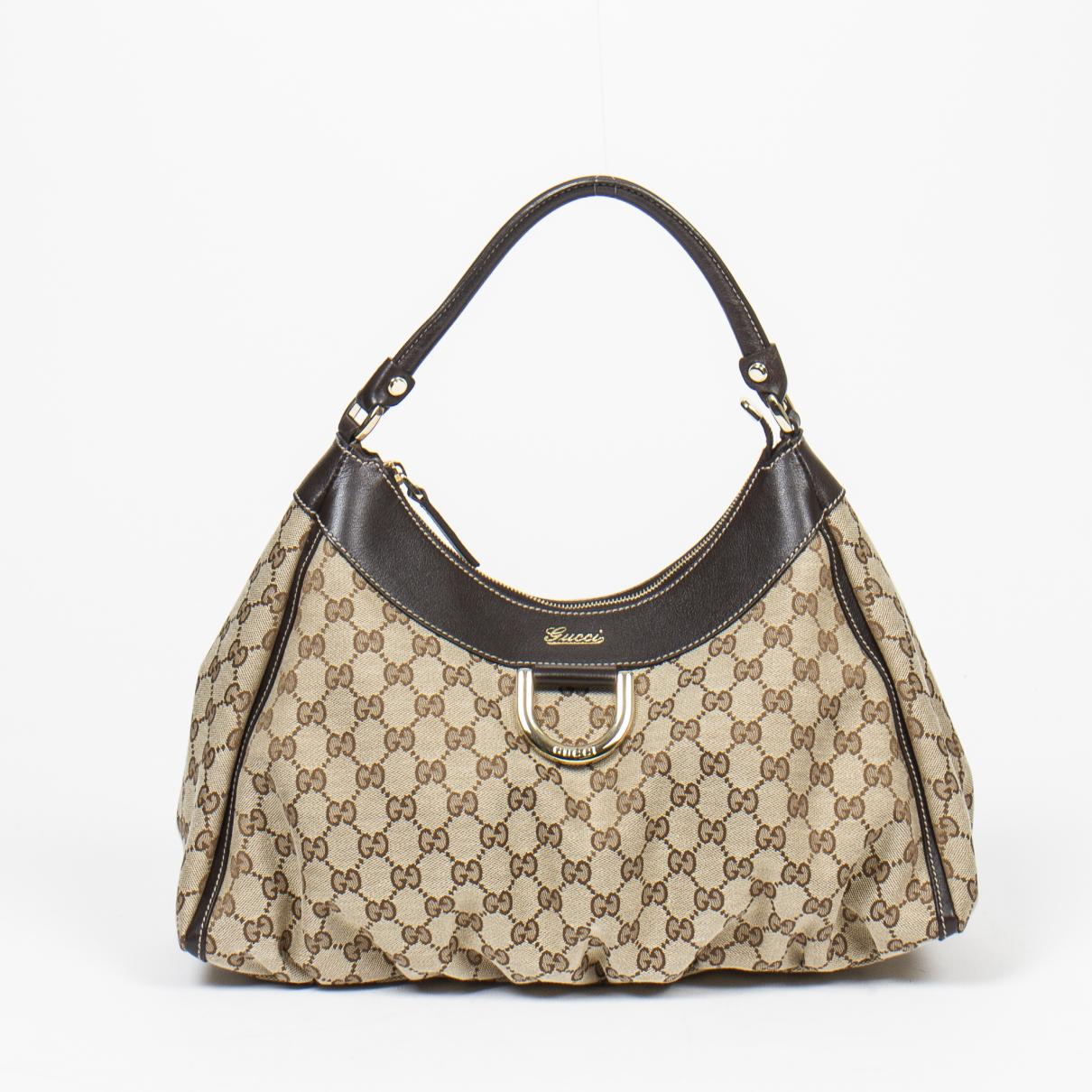 Gucci \N Handtasche in  Beige Baumwolle