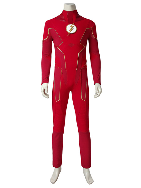 Milanoo The Flash Cosplay Barry Allen Cosplay Costume Full Set