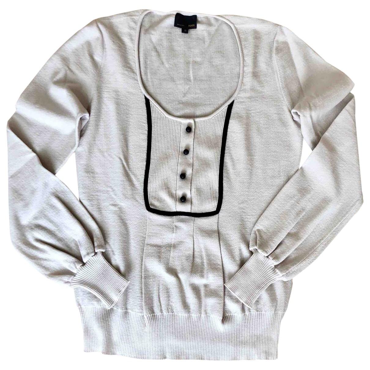Fendi \N White Wool Knitwear for Women 38 IT