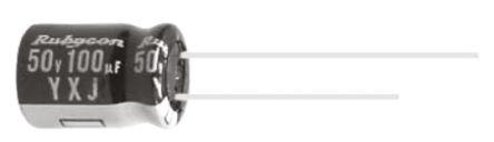 Rubycon 220μF Electrolytic Capacitor 10V dc, Through Hole - 10YXJ220M5X11 (25)