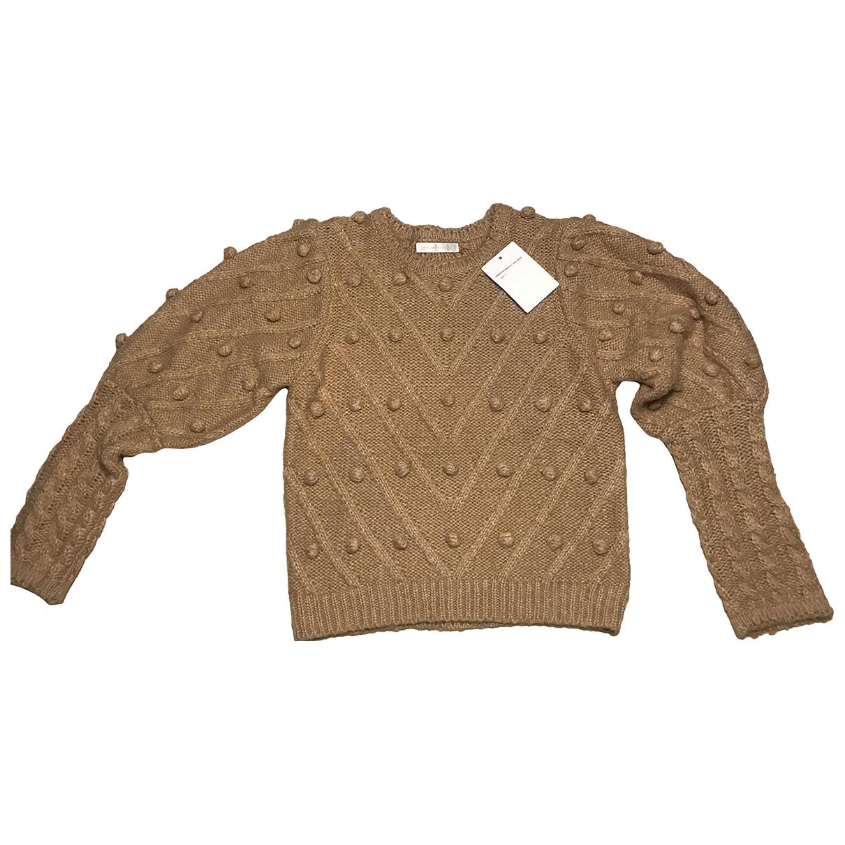 - Pull Manche ballon pour femme en laine - beige