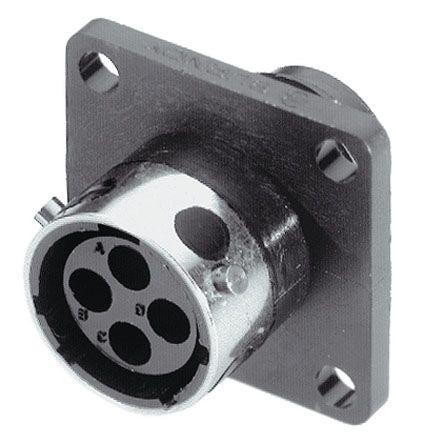 Souriau Circular Connector, 12 contacts Flange Mount Plug, Crimp IP65