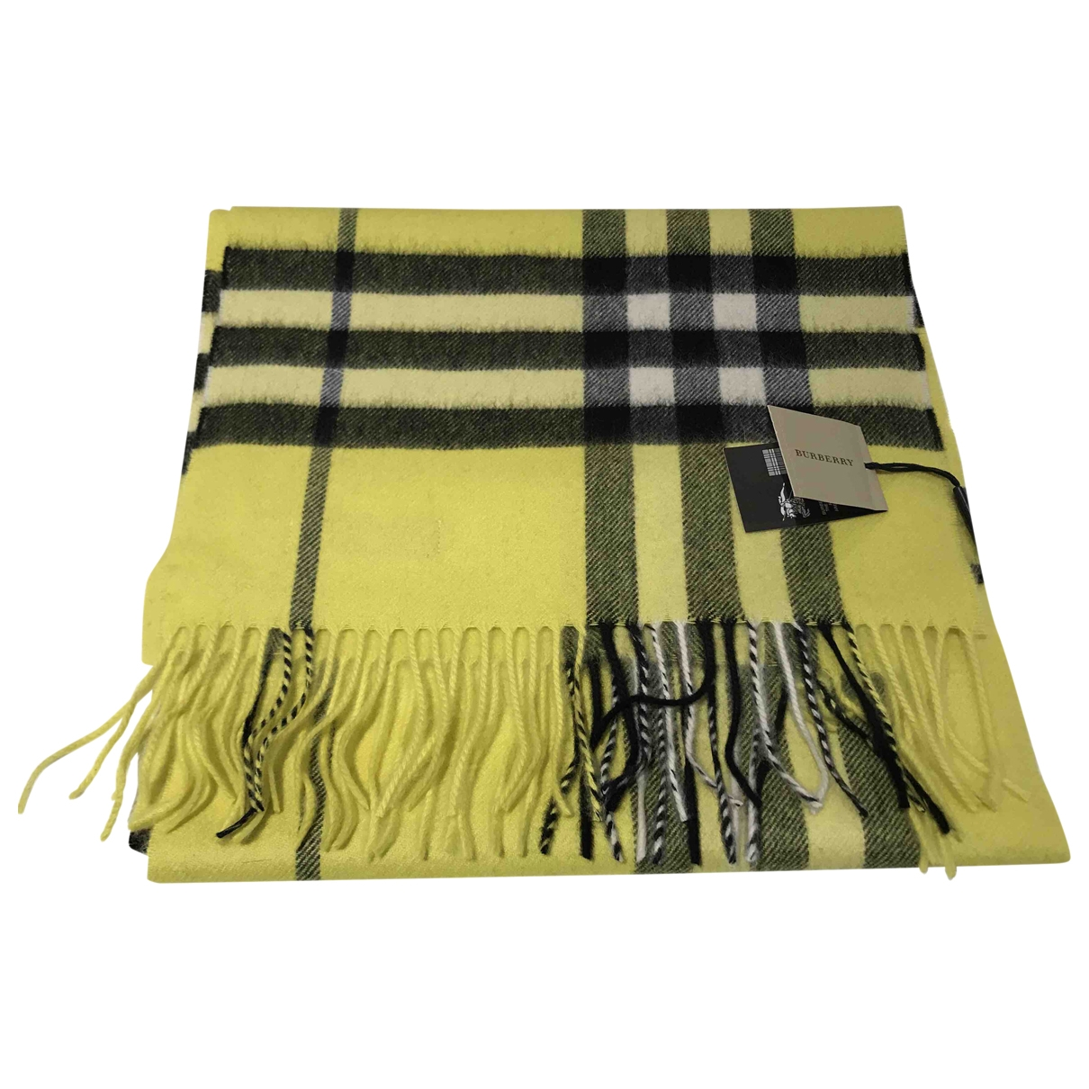 Burberry \N Yellow Cashmere scarf for Women \N