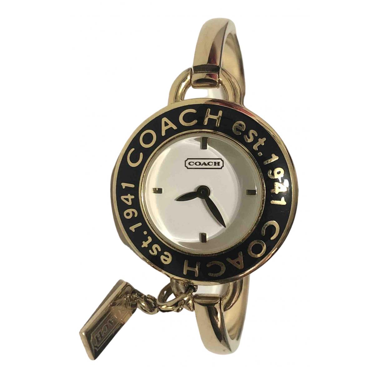 Coach \N Uhr in  Gold Stahl
