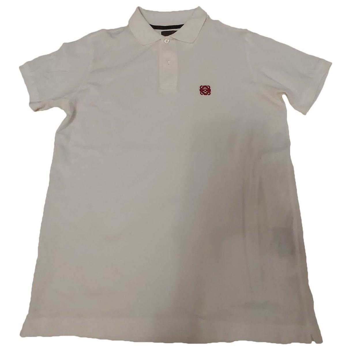 Loewe - Polos   pour homme en coton - blanc