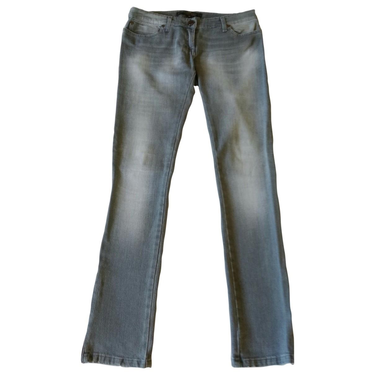 Elisabetta Franchi \N Grey Cotton - elasthane Jeans for Women 29 US