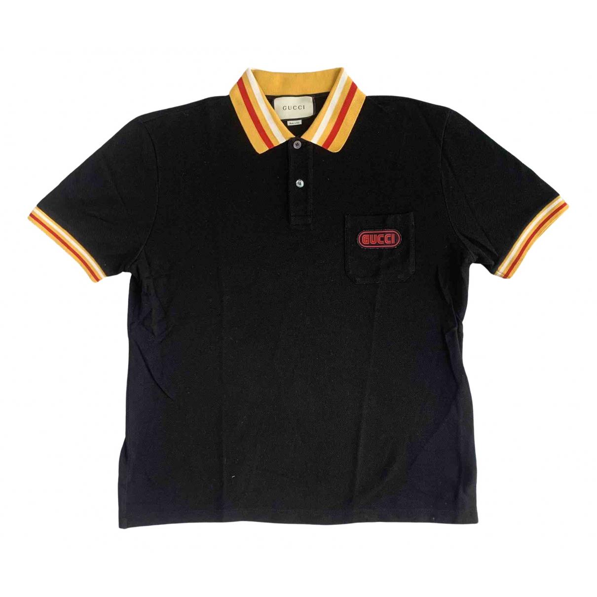 Gucci \N Black Cotton Polo shirts for Men XL International