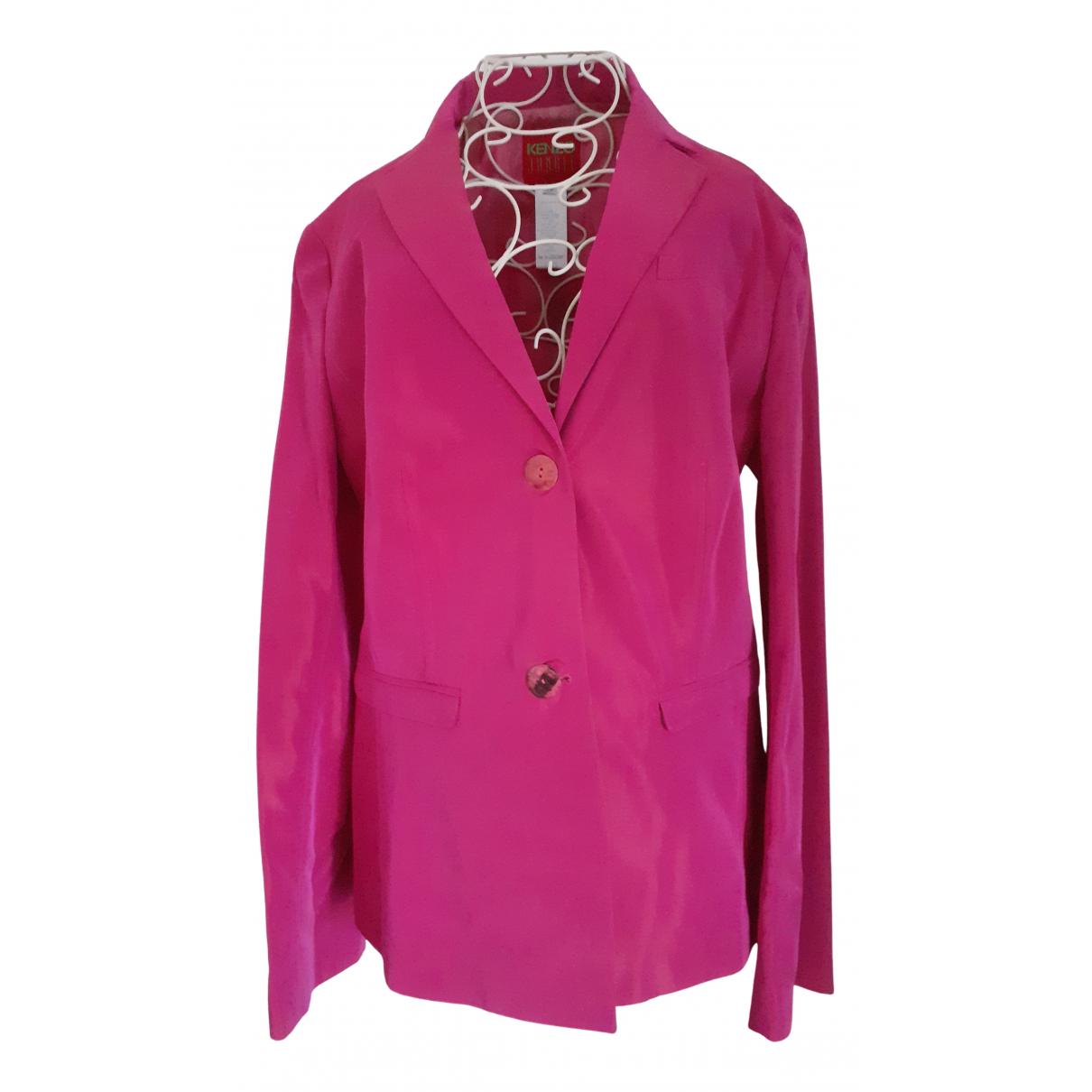 Kenzo - Veste   pour femme en soie - rose