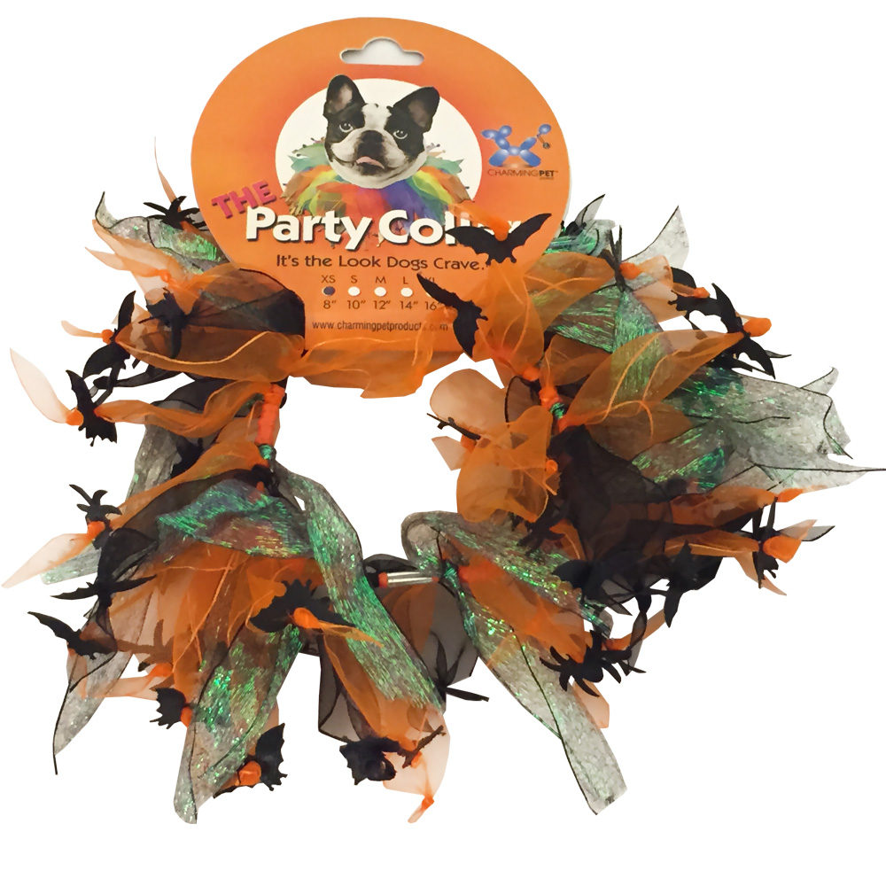 Halloween Party Collar - Spider & Bats - XSmall (8
