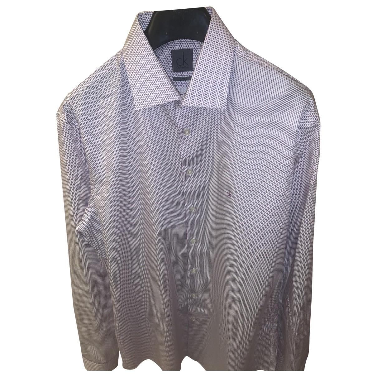 Calvin Klein \N Cotton Shirts for Men 40 EU (tour de cou / collar)