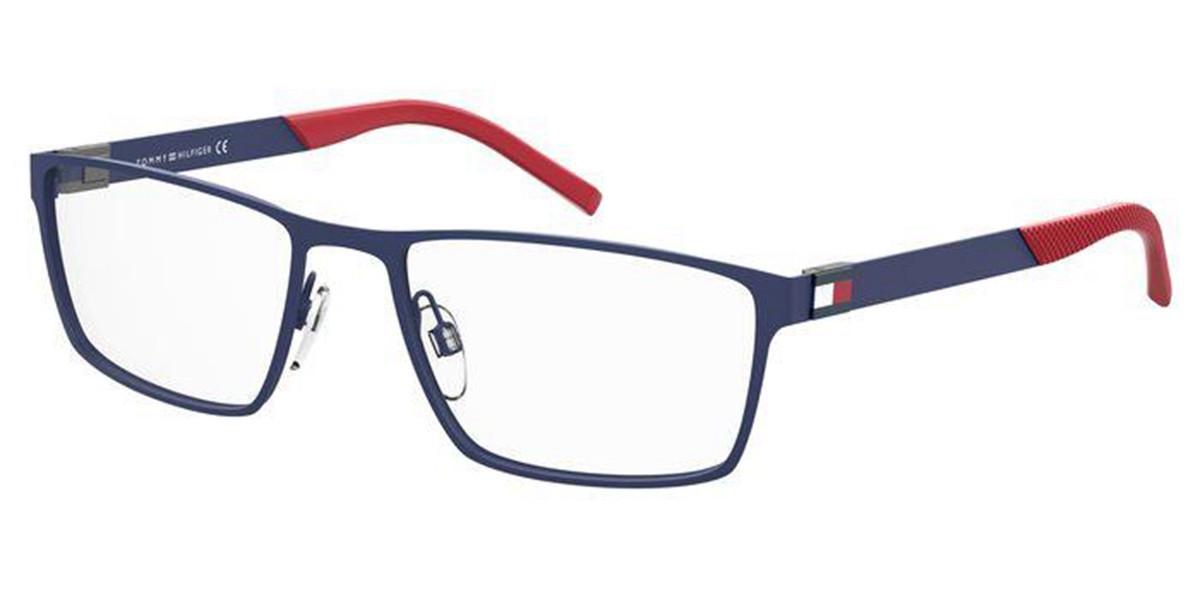 Tommy Hilfiger TH 1782 FLL Men's Glasses Blue Size 55 - Free Lenses - HSA/FSA Insurance - Blue Light Block Available